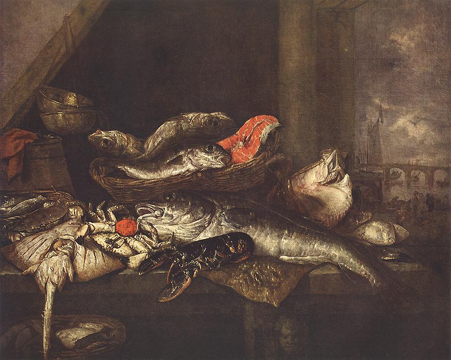 BEYEREN, Abraham van Still-life with Fishes