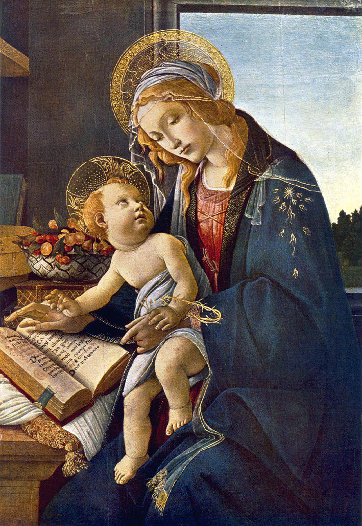 BOTTICELLI, Sandro Madonna with the Child (Madonna with the Book)  vg