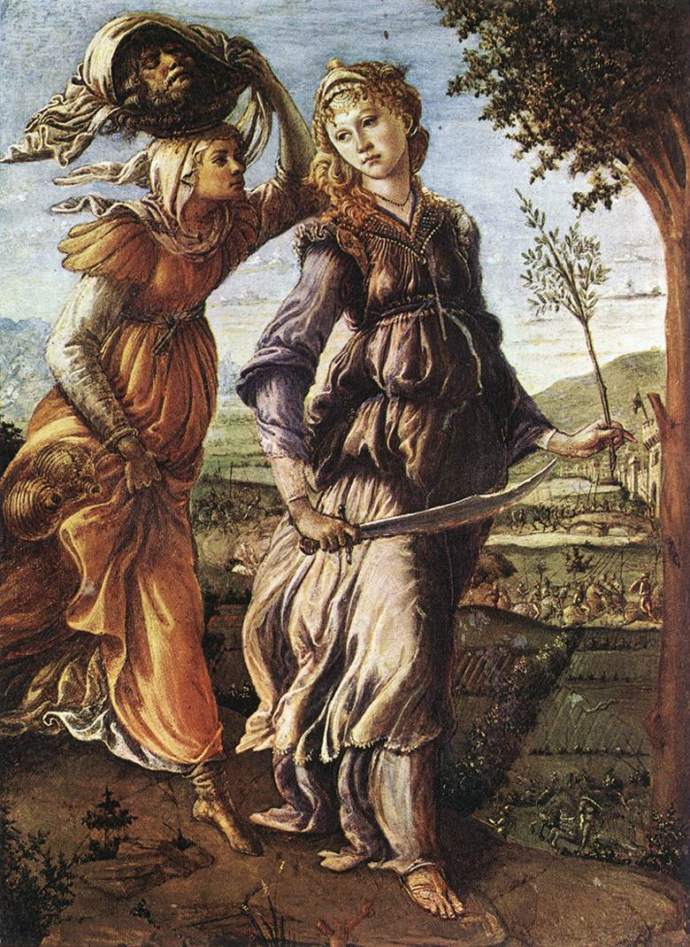 BOTTICELLI, Sandro The Return of Judith to Bethulia  hgg