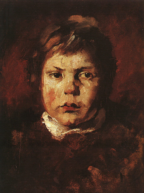 Frank Duveneck A Child's Portrait