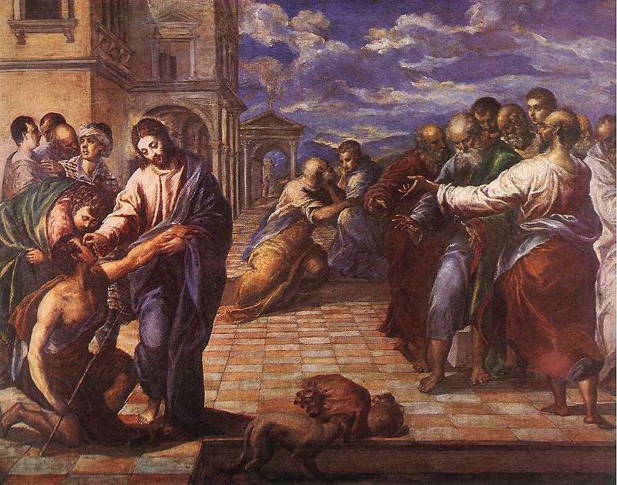 GRECO, El Christ Healing the Blind fg