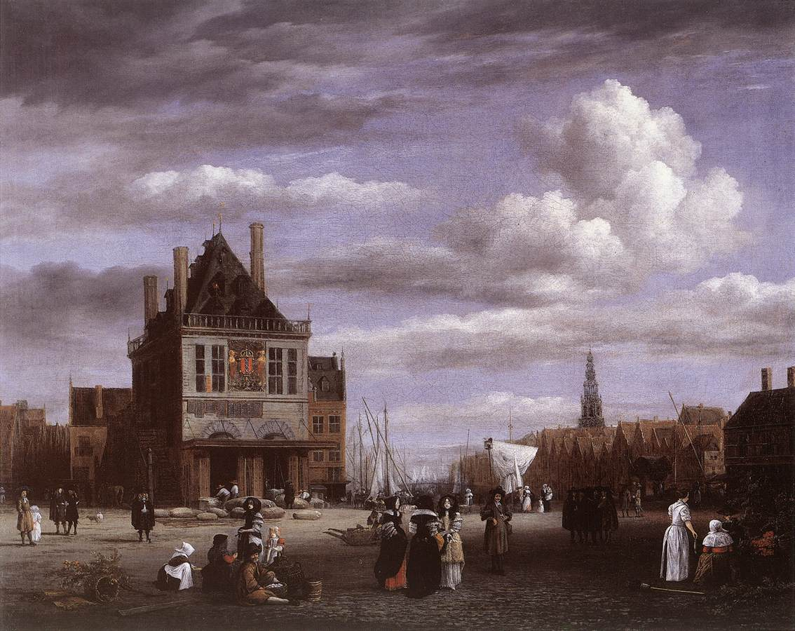 Jacob van Ruisdael The Dam Square in Amsterdam