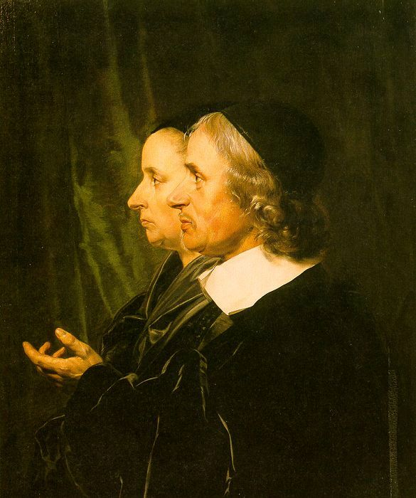 Jan de Bray Double Profile Portrait of the Artist's Parents