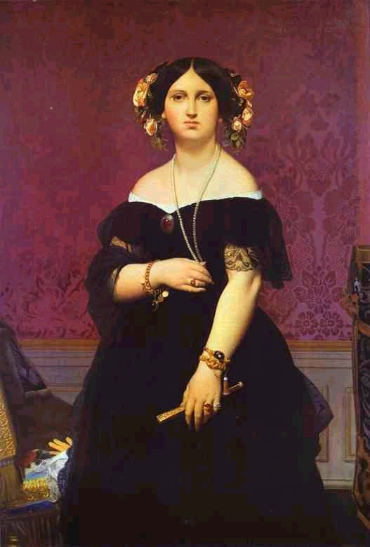 Jean Auguste Dominique Ingres Portrait of Madame Moitessier Standing