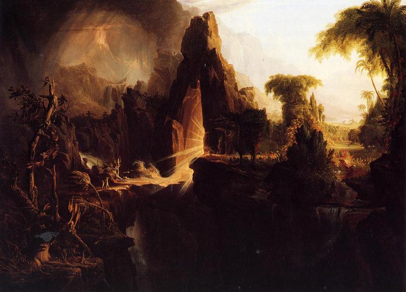 Thomas Cole Expulsion from Garden of Eden