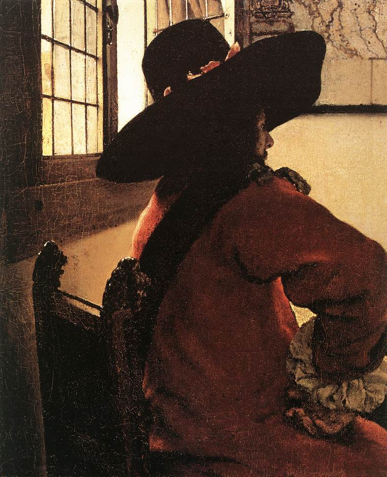 VERMEER VAN DELFT, Jan Officer with a Laughing Girl (detail)  jhg
