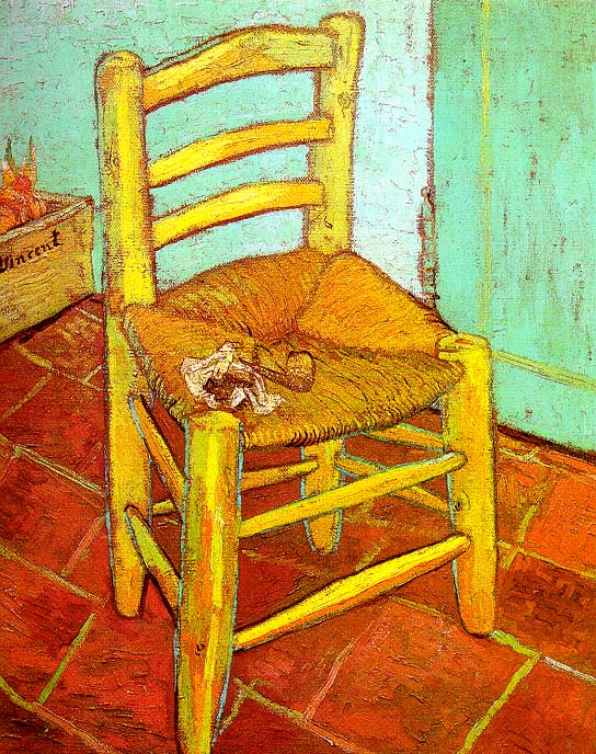 Vincent Van Gogh Artist's Chair with Pipe