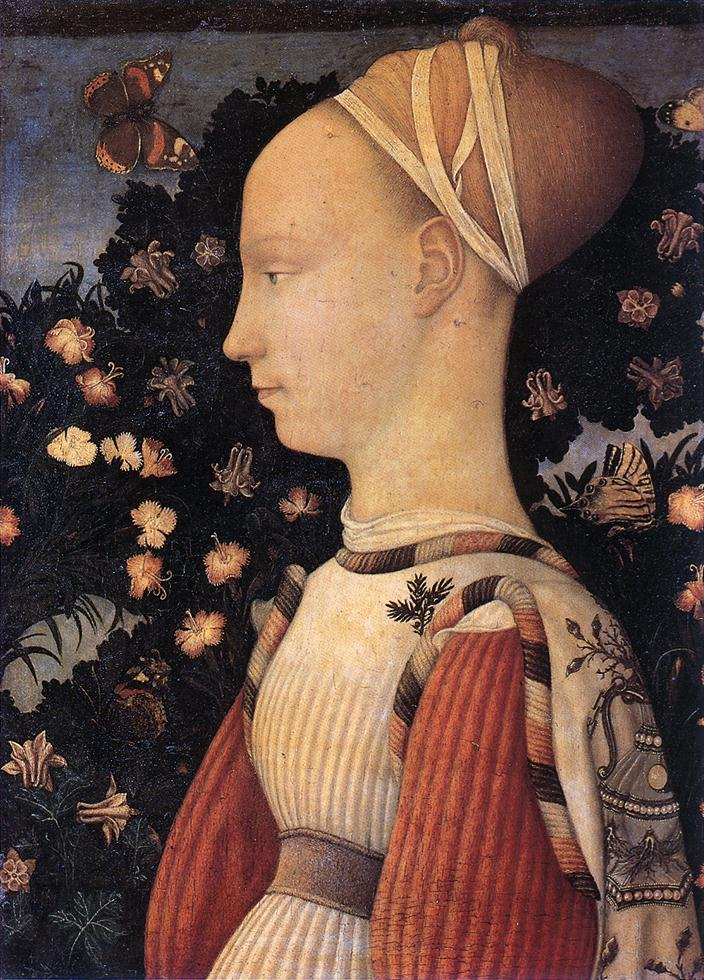PISANELLO Portrait of a Princess of the House of Este  vhh