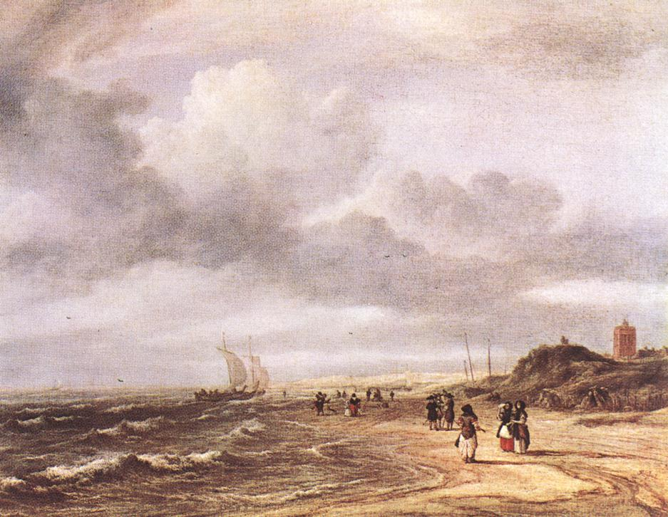 RUISDAEL, Jacob Isaackszon van The Shore at Egmond-an-Zee  d