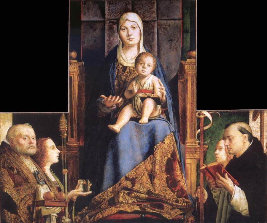 Antonello da Messina Madonna with SS Nicholas of Bari,Anastasia
