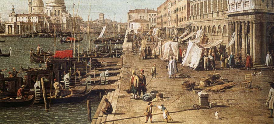 Canaletto The Molo seen against the zecca
