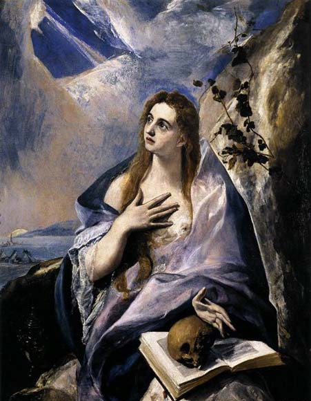 GRECO, El Mary Magdalen in Penitence