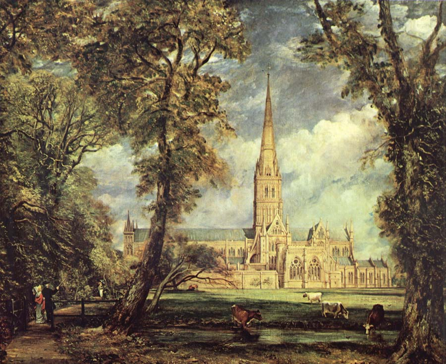 John Constable Sailsbury Cathedral From the Bishop-s Garden