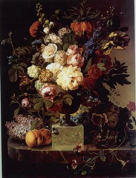 unknow artist Floral, beautiful classical still life of flowers.055