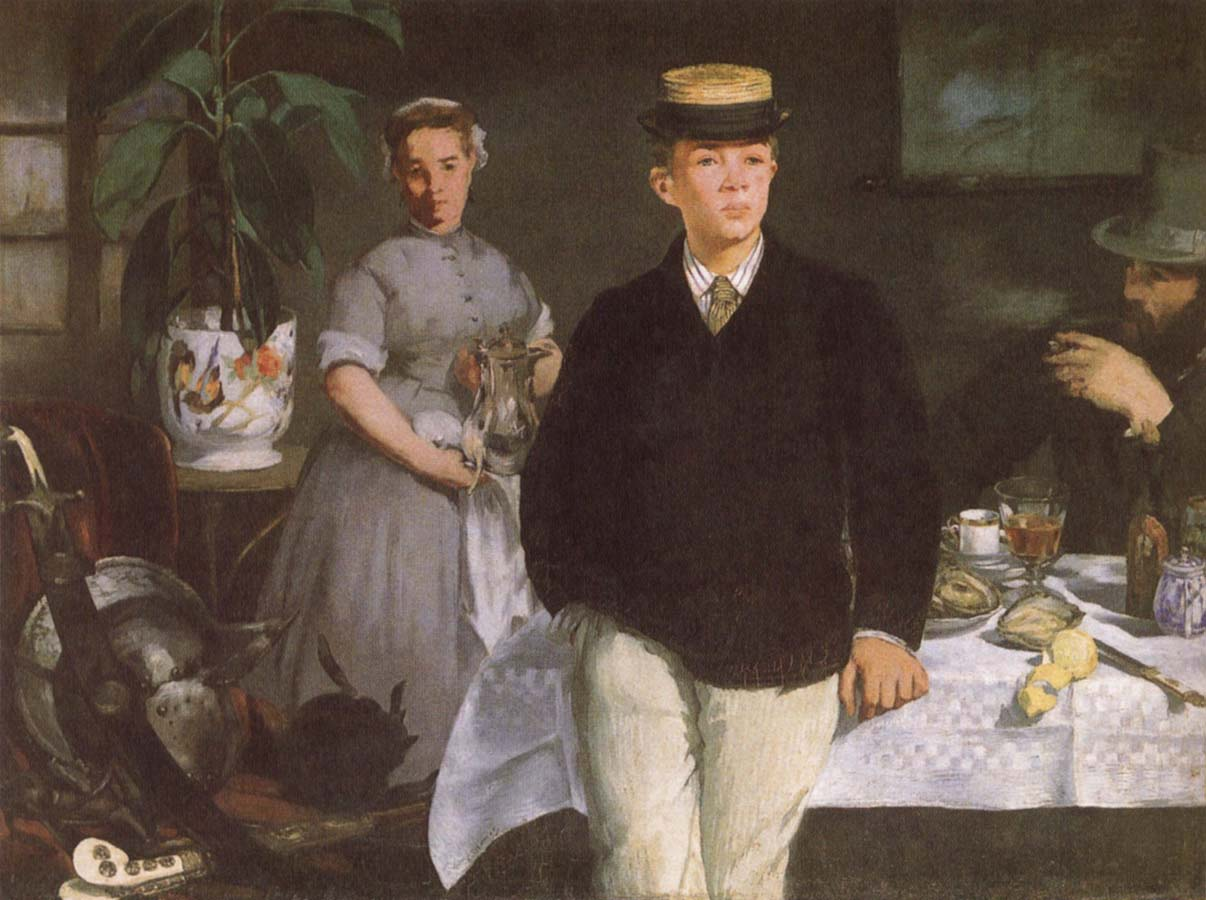 Edouard Manet Luncheon in the studio