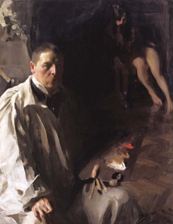 Anders Zorn Self-Portrait with Model