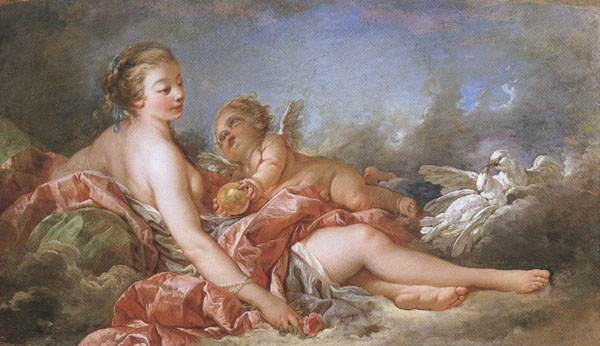 Francois Boucher Cupid Offering Venus the Golden Apple