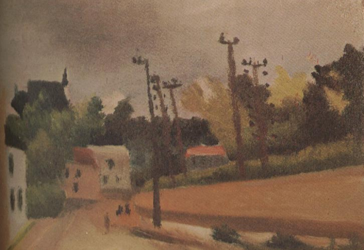 Henri Rousseau Sketch for View of Malakoff