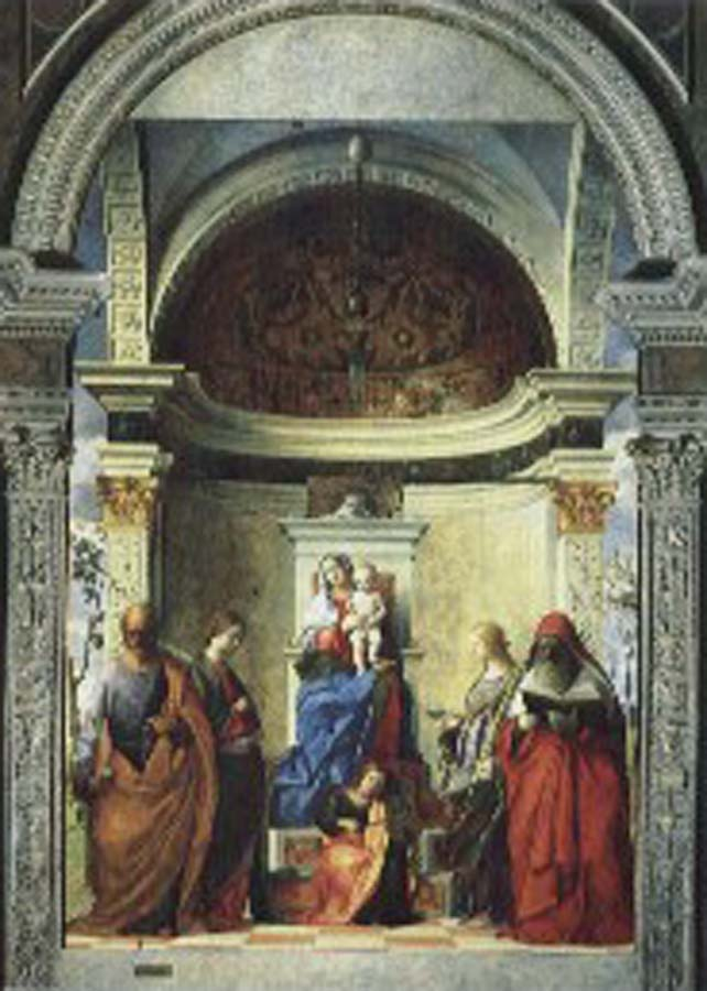 Gentile Bellini Zakaria St. altar painting