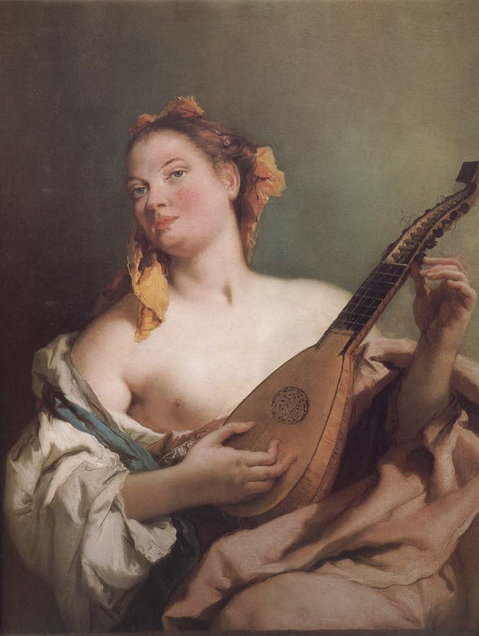 Giovanni Battista Tiepolo Mandolin played the young woman