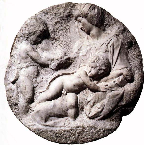 Michelangelo Buonarroti Madonna and Child with the Infant Baptist