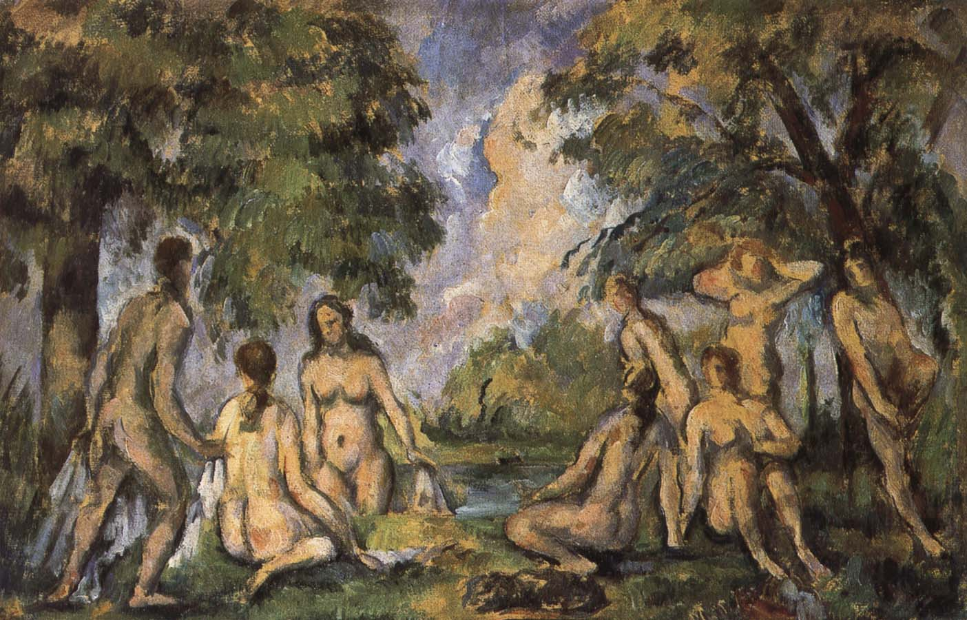 Paul Cezanne Bath De
