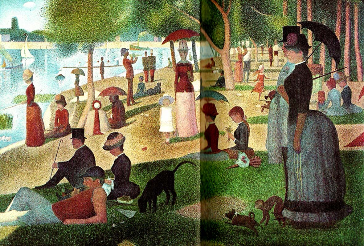 an examination of the painting a sunday on la grande jatte by georges seurat View: georges seurat, study for 'la grande jatte' read about this painting, learn the key facts and zoom in to discover more read about this painting, learn the key facts and zoom in to discover more.