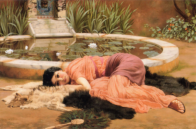 John William Godward Dolce far Niente or Sweet Nothings