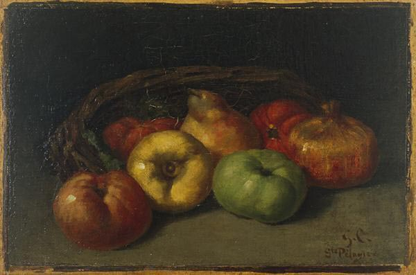 Gustave Courbet Still Life with Apples, Pear, and Pomegranates