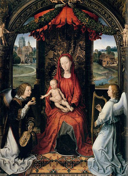 Hans Memling Madonna Enthroned with Child and Two Angels