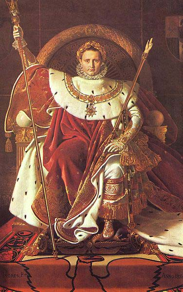 Jean Auguste Dominique Ingres Napoleon on his Imperial throne