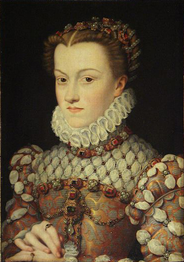 Francois Clouet Elisabeth of Austria, Queen of France, daughter of Holy Roman Emperor Maximilian II. of Austria and Infanta Maria of Spain, wife of King Charles Charl