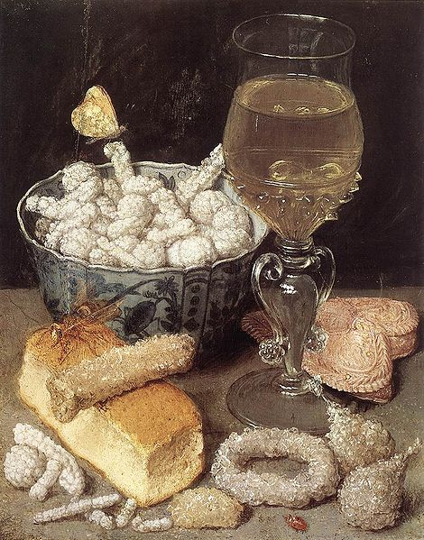 Georg Flegel Still-Life with Bread and Confectionary