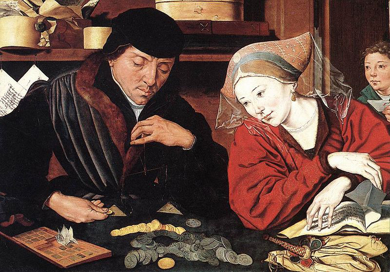 Marinus van Reymerswaele The Banker and His Wife