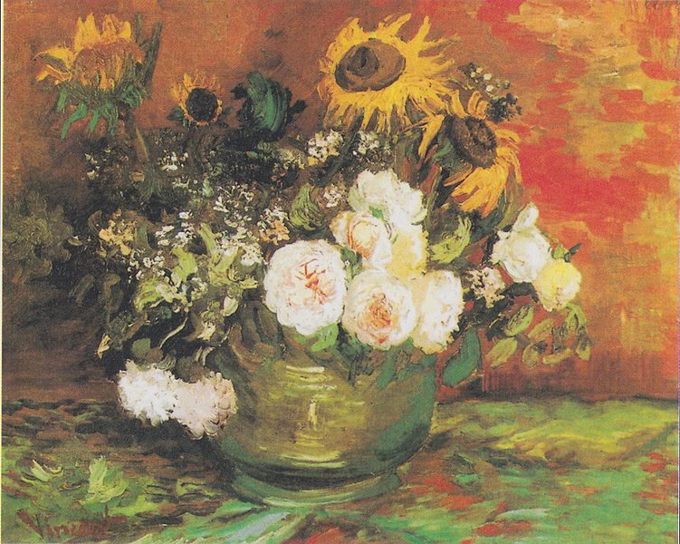 Vincent Van Gogh Bowl with Sunflowers