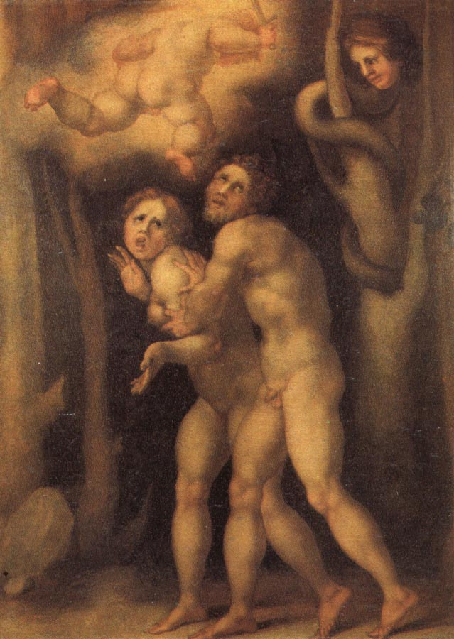 Pontormo The Fall of Adam and Eve