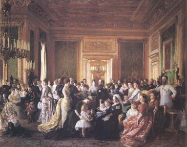 Laurits Tuxen The Family of Queen Victorin (mk25)