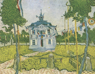 Vincent Van Gogh Auvers Town Hall on 14 july 1890