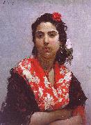 Raimundo de Madrazo y  Garreta A Gypsy oil painting picture wholesale