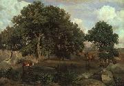 Jean Baptiste Camille  Corot Forest of Fontainebleau Sweden oil painting reproduction