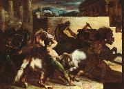 Theodore   Gericault The Race of the Barbary Horses Sweden oil painting reproduction
