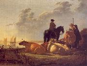 Aelbert Cuyp Cattle with Horseman and Peasants oil painting picture wholesale