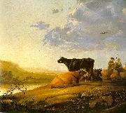 Aelbert Cuyp Young Herdsman with Cows by a River oil painting picture wholesale