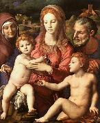 Agnolo Bronzino Holy Family with St.Anne and the Infant St.John Sweden oil painting reproduction