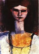 Amedeo Modigliani, Bust of a Young Woman