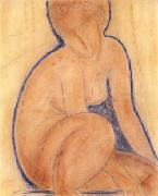Amedeo Modigliani, Crouched Nude