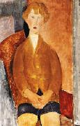 Amedeo Modigliani, Boy in Short Pants