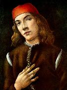 BOTTICELLI, Sandro Portrait of a Young Man  fdgdf oil painting picture wholesale