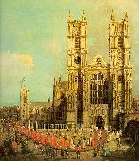 Canaletto Westminster Abbey with a Procession of the Knights of Bath Sweden oil painting reproduction
