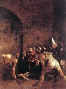 Caravaggio, Burial of St Lucy fg